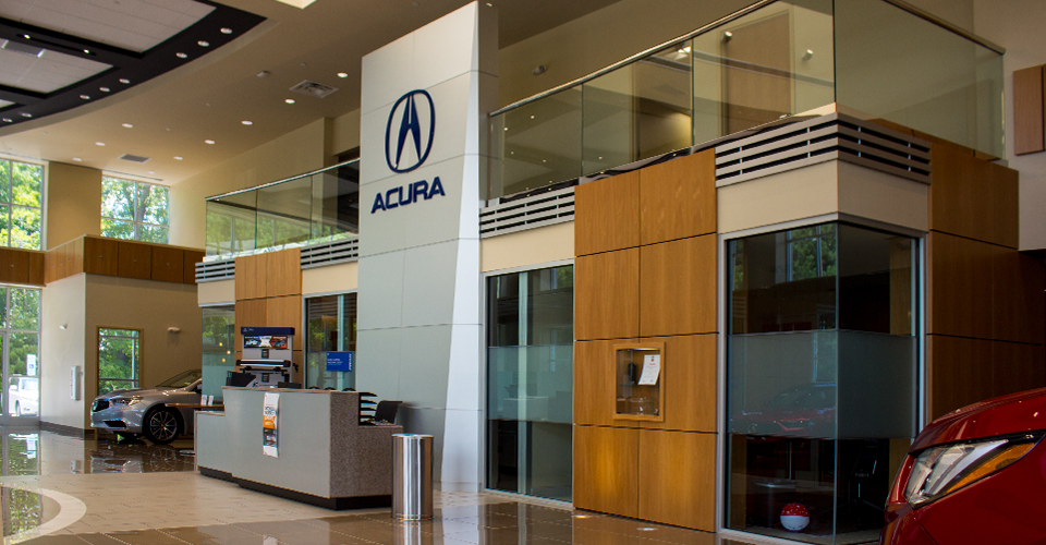 Leith Acura of Cary Showroom